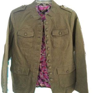 Twiggy of London Button Up Leather Jacket VTG